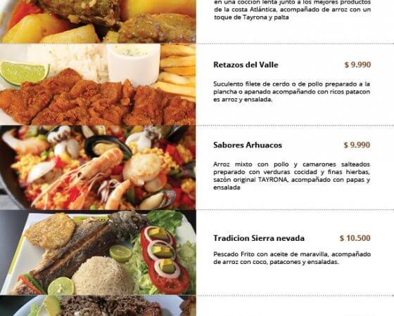 Diseño de carta para restaurante, Viña del Mar